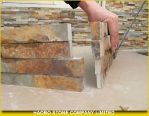 Rusty Yellow Corner Slates in Wholesale pictures & photos