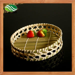 Round Bamboo Bread Basket Fruits Bowl Vegetables Basket pictures & photos