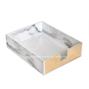 New Acrylic White Marble Desk Tray Wholesale pictures & photos