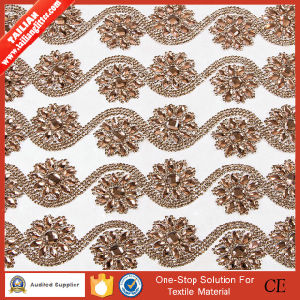 2016 Tailian Flower Design Crystal Rhinestone Mesh pictures & photos