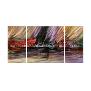 Creative Colorful Abstract Handmade Painting, Metal Wall Art Decoration (CHB6012029) pictures & photos