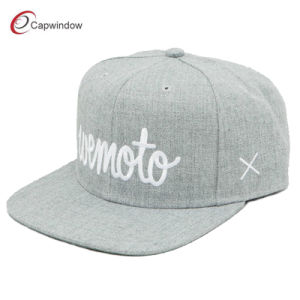 Wool Snapback Hat with Flat Embroidery (01270) pictures & photos