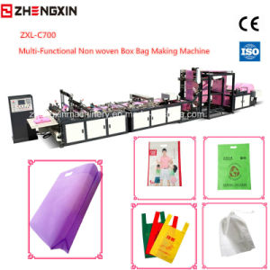 Non Woven Flat Bag Making Machine Zxl-C700 pictures & photos