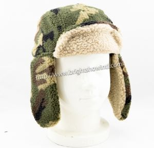 Custmized Boy′s Camo Artifical Fur Winter Hat with Earflap pictures & photos