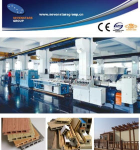 Wood Plastic Composite Profile Extrusion Machine pictures & photos