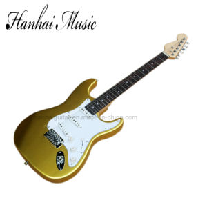 Hanhai Music / Golden Yellow St Style Electric Guitar pictures & photos