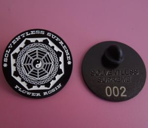 Customized Series Pin Badges Small Lapel Pins Laser Logo on The Back of Badge pictures & photos