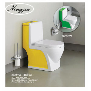 Ceramic Colour One-Pices Toilet (2821) pictures & photos