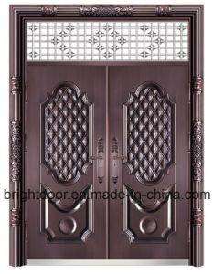 Double Door High Security Door Price Steel Entry Door pictures & photos