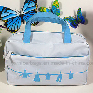 Promotional Cosmetic Bag Zipper Toiletry Bag with Handle pictures & photos