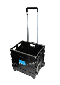 Plastic Portable Shopping Cart (FC401K) pictures & photos