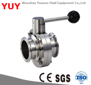 Ss304/316L Manual/Pneumatic Sanitary Butterfly Valve pictures & photos