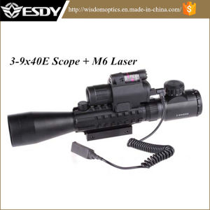 3-9X40e Airsoft Riflescope Sight with M6 Red Laser LED Flashlight pictures & photos