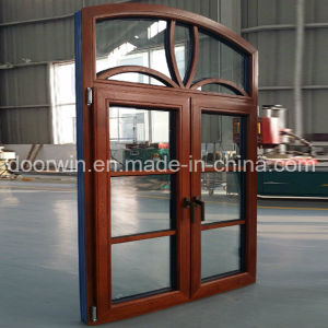 European and America Style Aluminum Wood Casement Window with Full Divided Lites pictures & photos