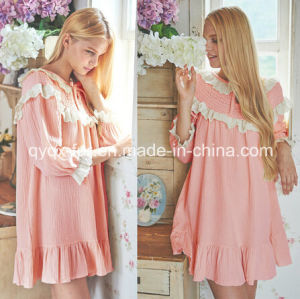 Ladies Summer Pajamas Pink Color pictures & photos