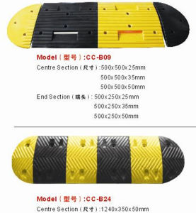 Reflective Recycled Rubber Speed Bumps pictures & photos