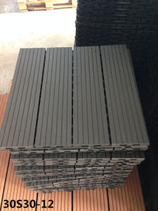 No MOQ WPC Factory Modern Design Grey Color Wood Plastic Composite Flooring Tiles pictures & photos