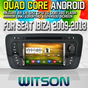 Witson S160 for Seat Ibiza 2009-2013 Car DVD GPS Player with Rk3188 Quad Core HD 1024X600 Screen 16GB Flash 1080P WiFi 3G Front DVR DVB-T Mirror-Link (W2-M246) pictures & photos