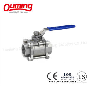 3PC Stainless Steel Ball Valve with Lock pictures & photos