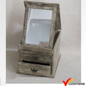 French Farming Style Wood Mirror Jewellery Cabinet pictures & photos