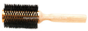 China Thermal Wooden Hair Brush with Aluminum pictures & photos