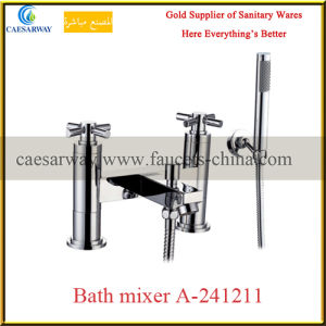 English Style British Double Handle Bathroom Bathtub Tap pictures & photos