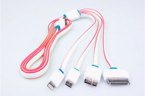 Hot Sale Useful Multi USB Cable for iPhone4s (LCCB-045) pictures & photos