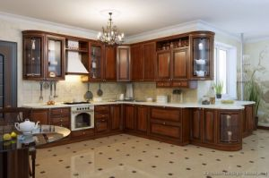 Golden Brown Kitchen Cabinet (GB12) pictures & photos