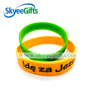 Promotional Embossed Silicone Bracelet with Customized Logo pictures & photos