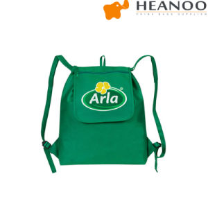 600d Polyester Green Fold-up Drawstring Cooler Backpack pictures & photos