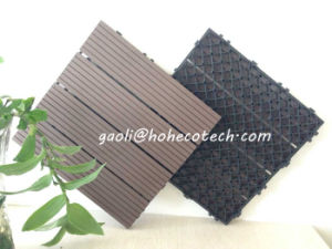 Interlock Fabricated Wood Tiles Outdoor Gazebo Flooring Balcony Wood Grain WPC Tiles pictures & photos