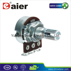 Single Short Shank 100k Rotary Potentiometer with Switch pictures & photos