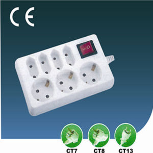 Seven Ways European Style Extension Socket with Switch