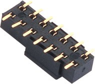 2.54 Mm H = 8.5 Mm Three Rows of 90 DIP Female Header pictures & photos