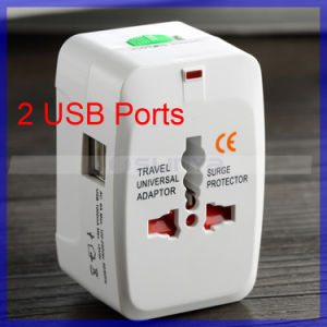 2 USB Port Universal Global Charger Travel Adapter EU Us UK Au Plug Power Converter (CA110) pictures & photos