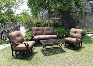 Garden Leisure Cast Aluminum Swivel & Glide Chat Group Set Furniture pictures & photos