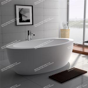 Modern Design Solid Surface Freestanding Bathroom Mineral Bathtub (JZ8615)