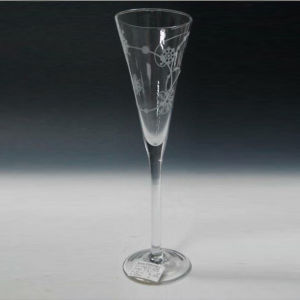 Mouth Blown Champagne Flute with Printing pictures & photos