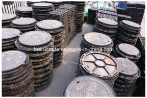 En124 Round Casting Iron Manhole Cover and Frame for Export pictures & photos