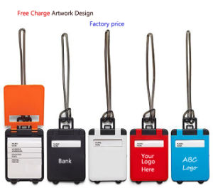 Suitcase Shape Luggage Tag with Client Logo pictures & photos