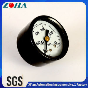 "1.5"" Inch Axial Black Steel Case Brass Internal Normal Manometers for North Europe Russia Belarus Ukraine pictures & photos"