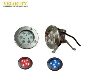 Anti-Corrosion Stainless Steel LED IP68 RGB Swimming Pool Underwater Light pictures & photos