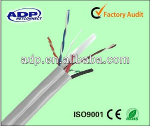 High Quality Outdoor LAN Cable FTP Cat5e/CAT6 +2c Power Cable for CCTV and Other Security Enquipment pictures & photos