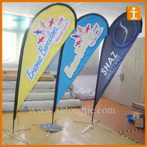Double Sides Printed Teardrop Flag Fl5GSM Polyester (TJ-01) pictures & photos