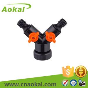 Shut-off Dual Snap Coupling Hose Fitting Plastic Flexible Hose Connector pictures & photos