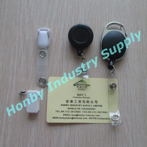 Retractable Reel ID Badge Key Card Name Tag Holders