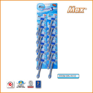 Popular Triple Stainless Steel Blade Disposable Razor (DS-9132) pictures & photos