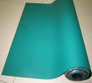 High Quality ESD Rubber Sheet, Antistatic Rubber Sheet with Green/Black, Blue/Black, Grey/Black, Black/Black Color pictures & photos