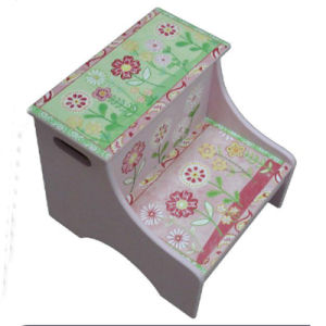 Beautiful Baby Furniture Toddlers Wood Step Storage Stool (BS-01) pictures & photos