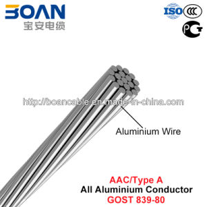 AAC Conductor, Type a Wire, All Aluminium Conductor (GOST 839-80) pictures & photos